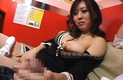 Asian Hottie Nana Aoyama Sucking Cock in Coffee Shop