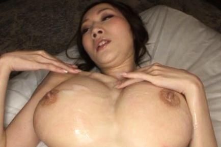 Julia Japanese amateur enjoys boob fucking