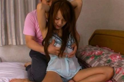 Hitomi Tanaka Beautiful busty Asian babe enjoys sex
