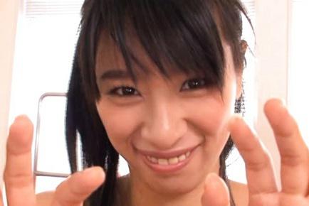 Hana Haruna Sweet Asian model is a busty babe