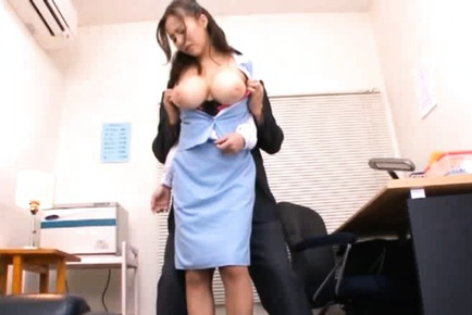 Ruri Saijo Japanese AV model is a busty girl