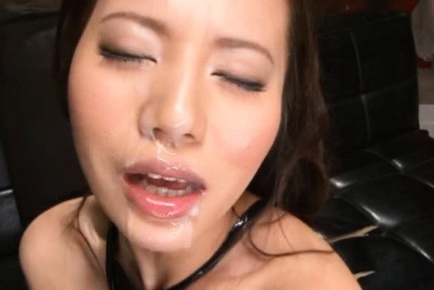 Busty Asian In Lingerie Ruri Saijo Cums And Sucks