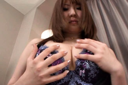 Momoka Nishina Asian model has super sized tits