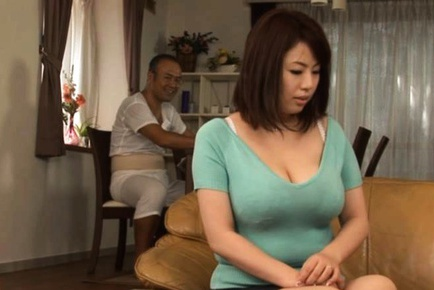 Busty Housewife Rin Aoki Sucks And Tit Fucks For Cum