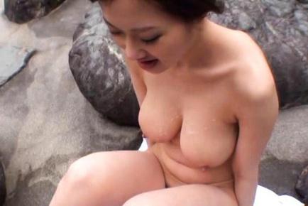 Sayuki Kanno big boobed lady shows off her hot tits