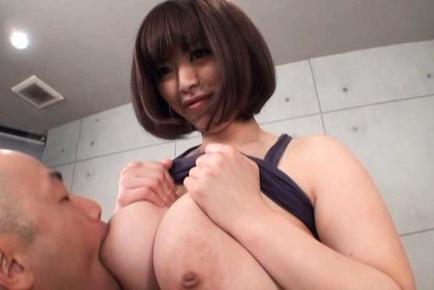 Marie Momoka Asian beauty with huge hooters