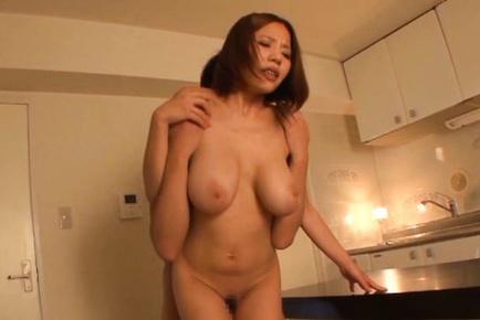 Huge boobs of Ruri Saijoh shake during hot session