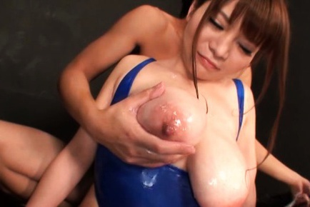 Babe with huge tits Kurumi Kokoro enjoys a big cock