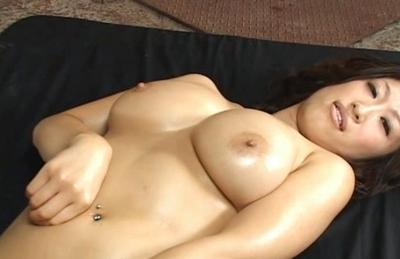Miwa Aoki hot Asian babe in bikini shows off her big tits and gets creampied