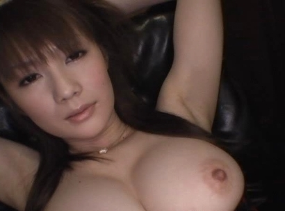 Erika Kirihara Asian model with huge hooters shows hairy pussy