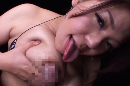 Astonishing busty bombshell Mizuki Ann boasts of her huge soft tits
