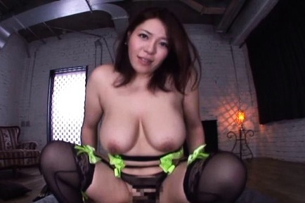 Curvaceous busty mature Mizuki Ann arranges titfuck rides dick on pov