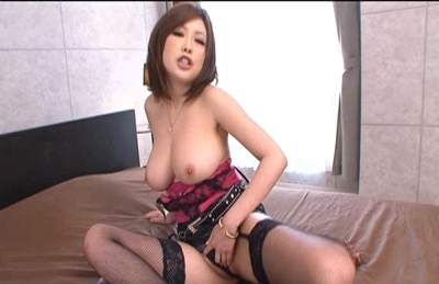 Rio Hamasaki Naughty Asian model has a fun time with an electric massager