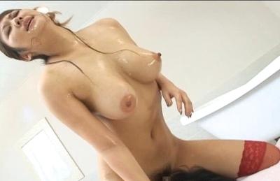Moka Lovely Asian model sucks cock and titty fucks