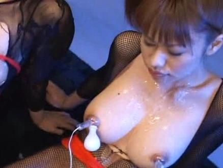 Emir Ruka Mirei Three Asian models get  with cum