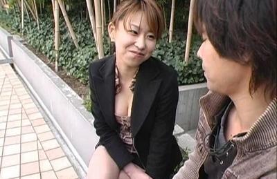 Koharu Hot Asian doll sucks cock in the bath