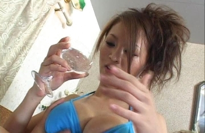 Yuki Tuoma Asian girl has big tits and enjoys sucking cock