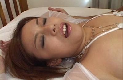 Jun Rukawa Cute Asian lady is oiled up for hot sex