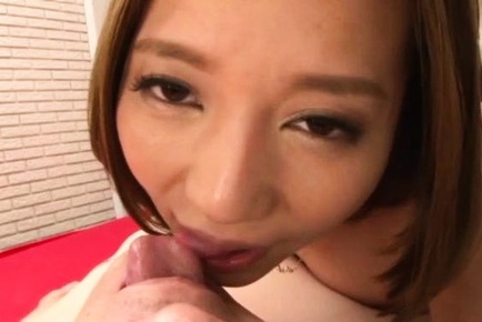 Saijou Ruri blows and rides a true pornstar