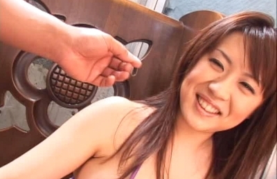 Nana Aoyama Naughty Asian babe enjoys fucking and sucking cock for a faceful of cum
